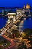 Γέφυρα αλυσίδων & μπλε ώρα Στοκ φωτογραφίες με δικαίωμα ελεύθερης χρήσης