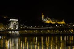 Γέφυρα αλυσίδων στη Βουδαπέστη Στοκ Φωτογραφία