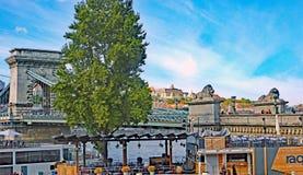 Γέφυρα αλυσίδων στο Hill του Castle Στοκ φωτογραφίες με δικαίωμα ελεύθερης χρήσης