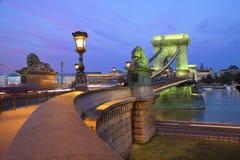 Γέφυρα αλυσίδων Szechenyi, Βουδαπέστη. Στοκ φωτογραφία με δικαίωμα ελεύθερης χρήσης