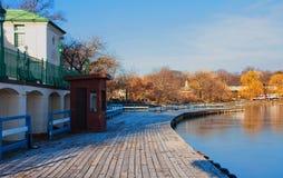 γέφυρα βαρκών Στοκ Εικόνα