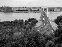 γέφυρα Βουδαπέστη elisabeth Ου&gamma Στοκ εικόνα με δικαίωμα ελεύθερης χρήσης