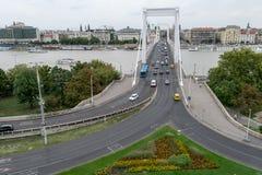 γέφυρα Βουδαπέστη elisabeth Ου&gamma Στοκ Εικόνες
