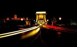 Γέφυρα Βουδαπέστη Ουγγαρία αλυσίδων Στοκ Φωτογραφία