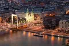 γέφυρα Βουδαπέστη elisabeth Στοκ φωτογραφίες με δικαίωμα ελεύθερης χρήσης