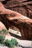Γέφυρα βράχου στο εθνικό πάρκο αψίδων, ΗΠΑ στοκ φωτογραφία