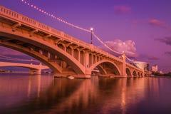 Γέφυρα βραδιού Στοκ εικόνα με δικαίωμα ελεύθερης χρήσης