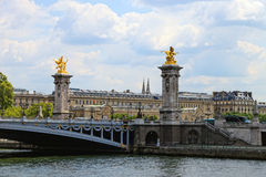 γέφυρα Γαλλία ΙΙΙ του Αλεξάνδρου Παρίσι Στοκ Φωτογραφίες