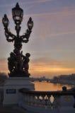 γέφυρα Γαλλία ΙΙΙ Alexandre Παρίσ&io Στοκ Εικόνα