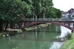 γέφυρα Γαλλία Στρασβούργο Στοκ εικόνες με δικαίωμα ελεύθερης χρήσης