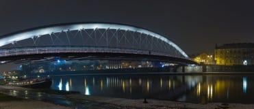 Γέφυρα για πεζούς αγάπης στην Κρακοβία. Στοκ εικόνα με δικαίωμα ελεύθερης χρήσης