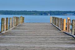 Γέφυρα για πεζούς θαλασσίως Στοκ Εικόνες