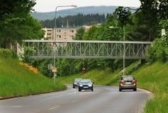 Γέφυρα για πεζούς πέρα από την οδό Palacky Στοκ Εικόνες