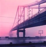 Γέφυρα για πεζούς στο νησί Trukhanov Στοκ Φωτογραφία