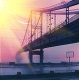 Γέφυρα για πεζούς στο νησί Trukhanov Στοκ Εικόνες