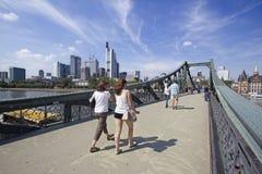 Γέφυρα για πεζούς της Φρανκφούρτης Στοκ Εικόνα