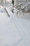 γέφυρα για πεζούς Στοκ Φωτογραφίες