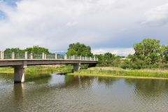 Γέφυρα για πεζούς Στοκ Εικόνα