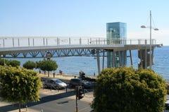 Γέφυρα για πεζούς Cyta στη Λεμεσό, Κύπρος στοκ εικόνα με δικαίωμα ελεύθερης χρήσης