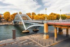 Γέφυρα για πεζούς Passerelle αψίδων Στοκ εικόνα με δικαίωμα ελεύθερης χρήσης