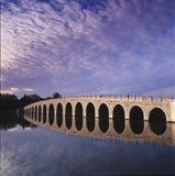 γέφυρα δεκαεπτά αψίδων στοκ εικόνες