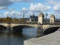 Γέφυρα Δημοκρατίας της Τσεχίας, Πράγα - Legia στοκ φωτογραφία με δικαίωμα ελεύθερης χρήσης