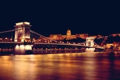 Γέφυρα & Δούναβης αλυσίδων στοκ φωτογραφία με δικαίωμα ελεύθερης χρήσης