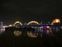 Γέφυρα δράκων Danang Στοκ Εικόνες