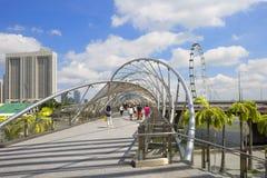 Γέφυρα ελίκων σε Σινγκαπούρη Στοκ φωτογραφία με δικαίωμα ελεύθερης χρήσης