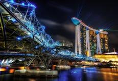 Γέφυρα ελίκων της Σιγκαπούρης Στοκ εικόνες με δικαίωμα ελεύθερης χρήσης