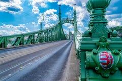 Γέφυρα ελευθερίας στη Βουδαπέστη, Ουγγαρία το Σεπτέμβριο του 2017 Στοκ Φωτογραφίες