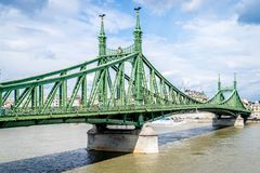 Γέφυρα ελευθερίας στη Βουδαπέστη, Ουγγαρία το Σεπτέμβριο του 2017 Στοκ Εικόνες