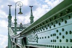 Γέφυρα ελευθερίας στη Βουδαπέστη, Ουγγαρία το Σεπτέμβριο του 2017 Στοκ φωτογραφία με δικαίωμα ελεύθερης χρήσης
