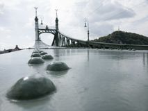 Γέφυρα ελευθερίας στη Βουδαπέστη, Ουγγαρία Στοκ φωτογραφία με δικαίωμα ελεύθερης χρήσης