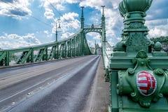 Γέφυρα ελευθερίας στη Βουδαπέστη, Ουγγαρία Στοκ Φωτογραφίες