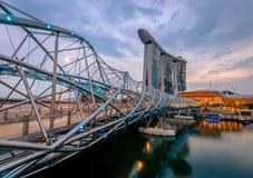 Γέφυρα ελίκων - Σιγκαπούρη Στοκ Φωτογραφίες