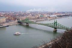Γέφυρα ελευθερίας, τοπ άποψη Στοκ εικόνα με δικαίωμα ελεύθερης χρήσης
