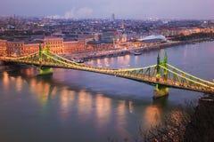 Γέφυρα ελευθερίας, τοπ άποψη Στοκ Φωτογραφίες