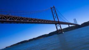 Γέφυρα 25η Απριλίου Στοκ Φωτογραφία