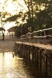 Γέφυρα ηλιοβασιλέματος στοκ εικόνες