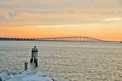 Γέφυρα ηλιοβασιλέματος Στοκ εικόνα με δικαίωμα ελεύθερης χρήσης