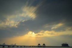 Γέφυρα θάλασσας της Ταϊλάνδης Στοκ Εικόνες