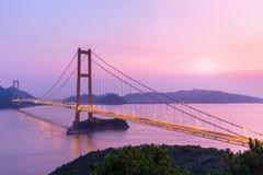 Γέφυρα διαγώνιος-θάλασσας Zhoushan Στοκ εικόνα με δικαίωμα ελεύθερης χρήσης