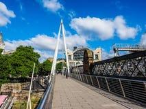 Γέφυρα ιωβηλαίου στο Λονδίνο, hdr Στοκ φωτογραφία με δικαίωμα ελεύθερης χρήσης