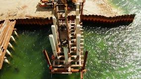 Γέφυρα κάτω από την κατασκευή στο νησί Siargao απόθεμα βίντεο