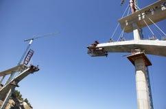 Γέφυρα κάτω από την κατασκευή Στοκ εικόνα με δικαίωμα ελεύθερης χρήσης
