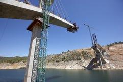 Γέφυρα κάτω από την κατασκευή Στοκ Εικόνα