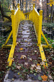 γέφυρα κίτρινη Στοκ Φωτογραφίες