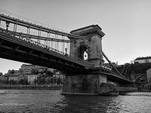 Γέφυρα και αρχιτεκτονικές λεπτομέρειες στη Βουδαπέστη Στοκ εικόνα με δικαίωμα ελεύθερης χρήσης