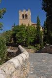 Γέφυρα και εκκλησία SAN Jun σε Aranda de Duero, Burgos επαρχία, S Στοκ φωτογραφία με δικαίωμα ελεύθερης χρήσης